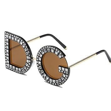 TOOMD Gafas de Sol Vintage Unisex Personalidad Carta Gafas ...