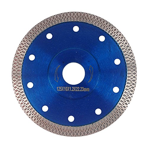 Wet Cutting Circular Saw - GoYonder 5 Inch Super Thin Diamond Saw Blade for Cutting Porcelain Tiles,Granite Marble Ceramics (5
