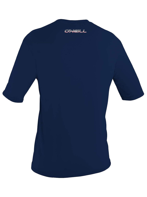 6d0b5c1ee2a Amazon.com: O'Neill Men's Basic Skins UPF 50+ Short Sleeve Sun Shirt:  Clothing