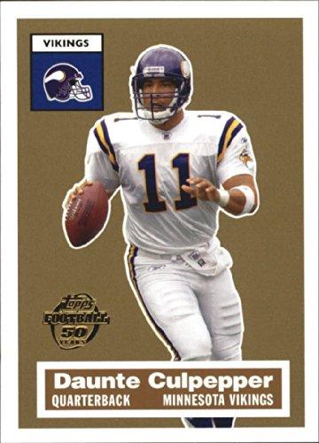 - 2005 Topps Turn Back the Clock #9 of 22 Daunte Culpepper Minnesota Vikings