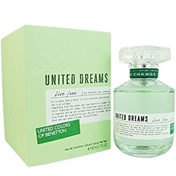 UNITED DREAMS LIVE FREE * Benetton 2.7 oz / 80 ml EDT Women Perfume Spray