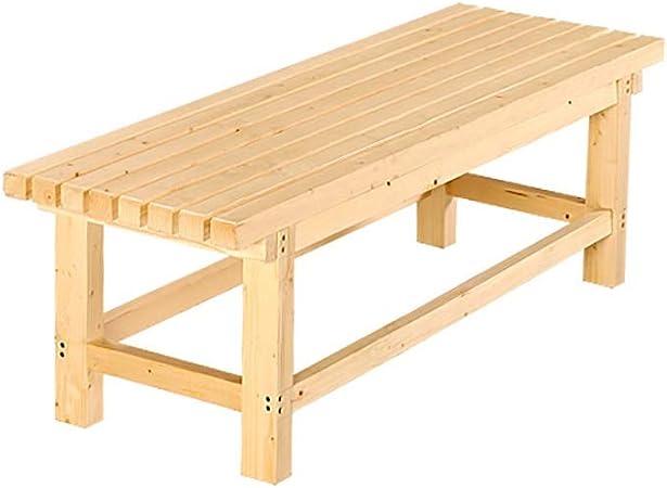 Sillas de comedor de jardín Banco, mesa de comedor de madera maciza de jardín, banco de