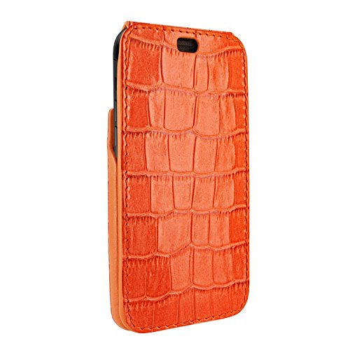 Latest Piel Frama iPhone XR iMagnum Leather Case - Orange Cowskin-Crocodile orange iphone xr case 8