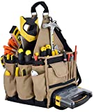 """Jackson Palmer Extra Large 11"""" Tool Carrier with Premium Parts Case (Electrical & Maintenance Tool Bag)"""