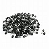 Houseuse Black Pre Insulate Ferrule Terminals E6012 190Pcs for 10AWG Cable