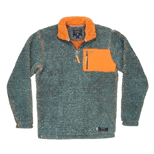 Southern Marsh Piedmont Range Sherpa Pullover (Medium, Washed Slate & Burnt Orange)
