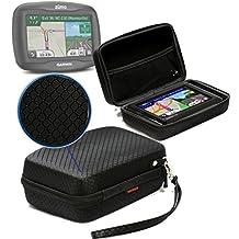 Navitech Black Hard Carry Case / Cover For The Garmin dezl 570LMT-D / Garmin Zumo 590LM