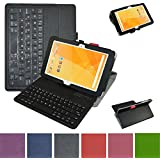 """Acer Iconia One 10 B3-A20 Bluetooth Keyboard Case,Mama Mouth Coustom Design Slim Stand PU Leather Case Cover With Romovable Bluetooth Keyboard For 10.1"""" Acer Iconia One 10 B3-A20 Android Tablet,Black"""