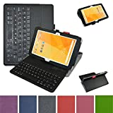 "Acer Iconia One 10 B3-A20 Bluetooth Keyboard Case,Mama Mouth Coustom Design Slim Stand PU Leather Case Cover With Romovable Bluetooth Keyboard For 10.1"" Acer Iconia One 10 B3-A20 Android Tablet,Black"
