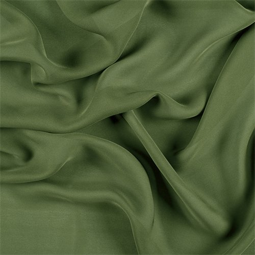 Grass Green Silk Double Georgette, Fabric By the Yard
