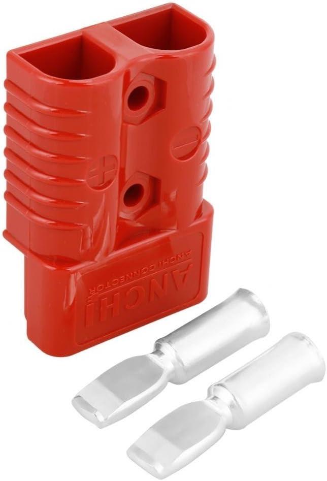 2 Stück 175a 600v Batterie Schnellkupplungswinde Stecker Kontaktabdeckung Rot Mit 4 Zubehörteilen Baumarkt