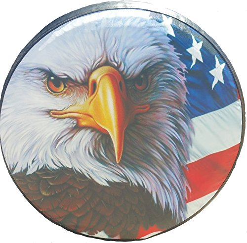 Rear Tire Covers - Spare Tire Cover American Flag Eagle 29-30 inches