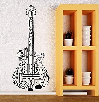 Vinilo Tatuajes de pared Guitarra Música Tatuajes de vinilo ...