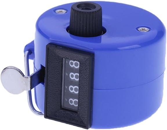 azul Everpert Contador de n/úmeros de 4 d/ígitos con carcasa de pl/ástico