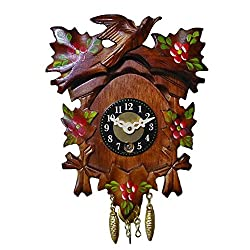 Key Wind-Up Clock with Red Flowers - Engstler