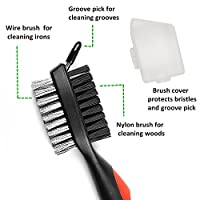 Golf Brush retractable and Club Groove Sharpener Set for All Golf Irons and Clubs Clean