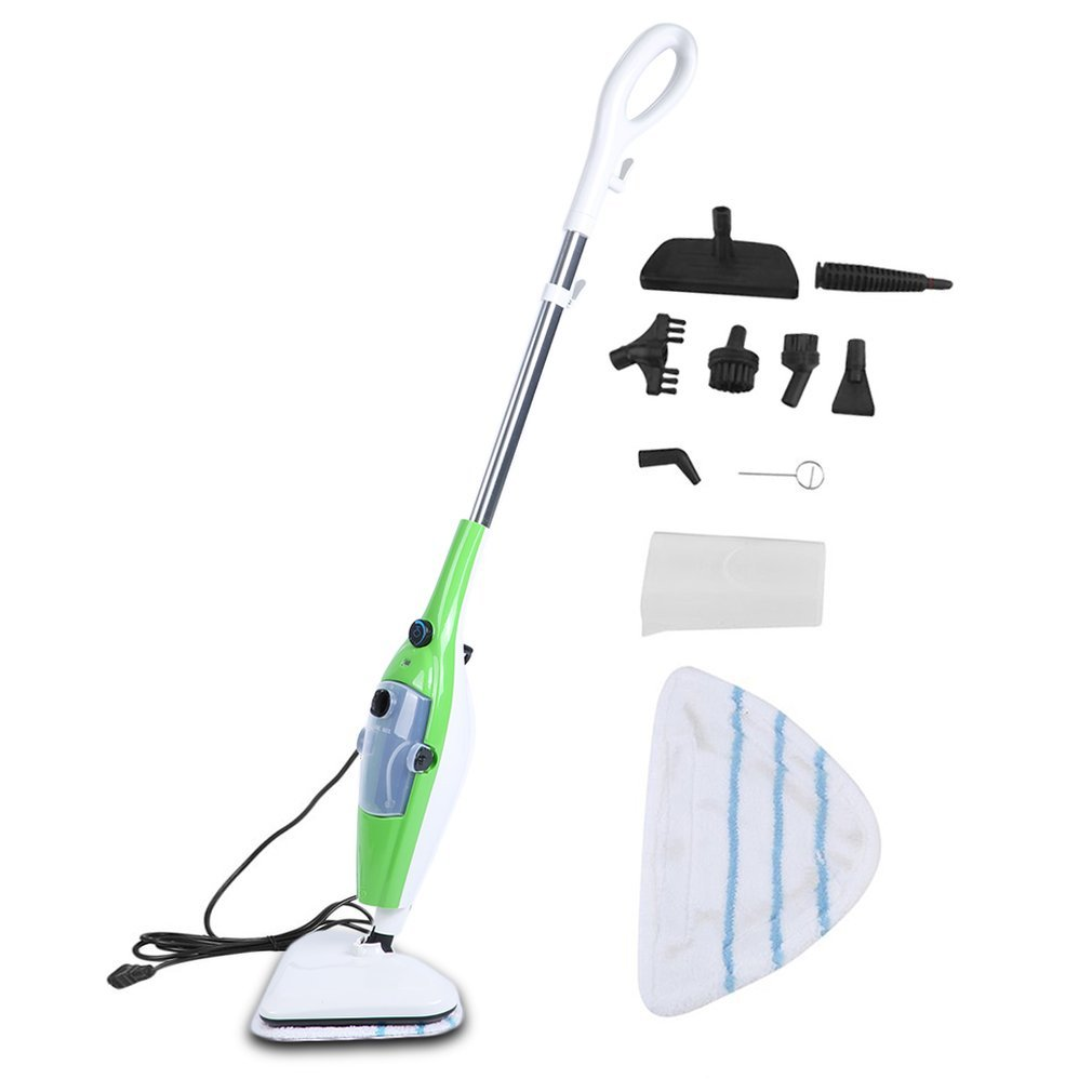 Civigrape Floor Steamer Multifunction Mop 10 in 1 - Home/Kitchen Cleaning Kit - Ideal for Hardwood, Carpet, Marble, Kitchen and Bathroom Tiles - Easy and Smart Handheld Electric Surface Glider 1200W