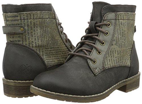 KLAIN JANE Damen Boots 310 Combat Torf Bootie Braun q8vU8d
