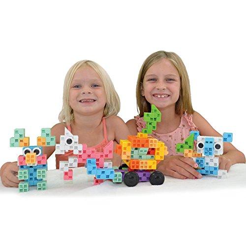 Best Building Toys For Girls : Click a brick toys rainbowland pc building block set