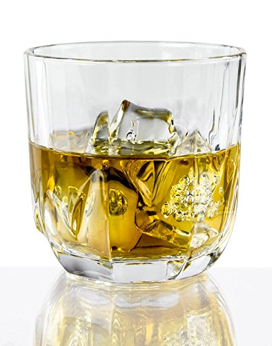 6-Piece Whiskey Glass Set in Glear Glass, 10 - Cheap Whiskey Glasses