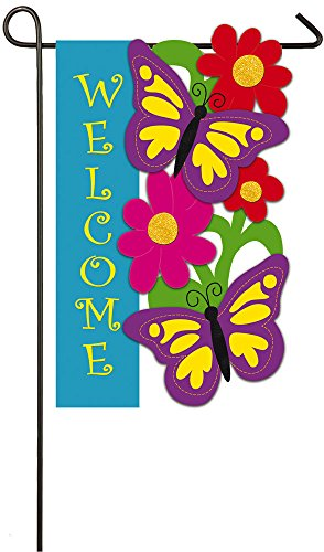 Evergreen Butterfly House (Evergreen Butterfly Welcome Applique Garden Flag, 12.5 x 18 inches)