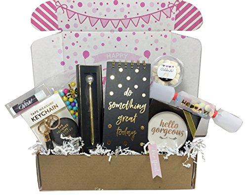 Birthday Gift Basket Box for Women, Stationary Gift Set for Mom, Aunt, Sister or Friend -