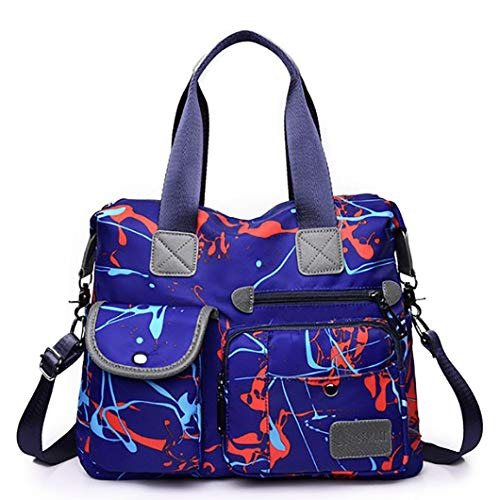 red Messenger Shopping red Crossbody Lavoro Donna Impermeabile Grande blue Body Oxford Pocket Borse Spalla Casual Scuola Viaggi Per Blue Bag Multi Top Bag maniglia E Tyue E4qwgHg