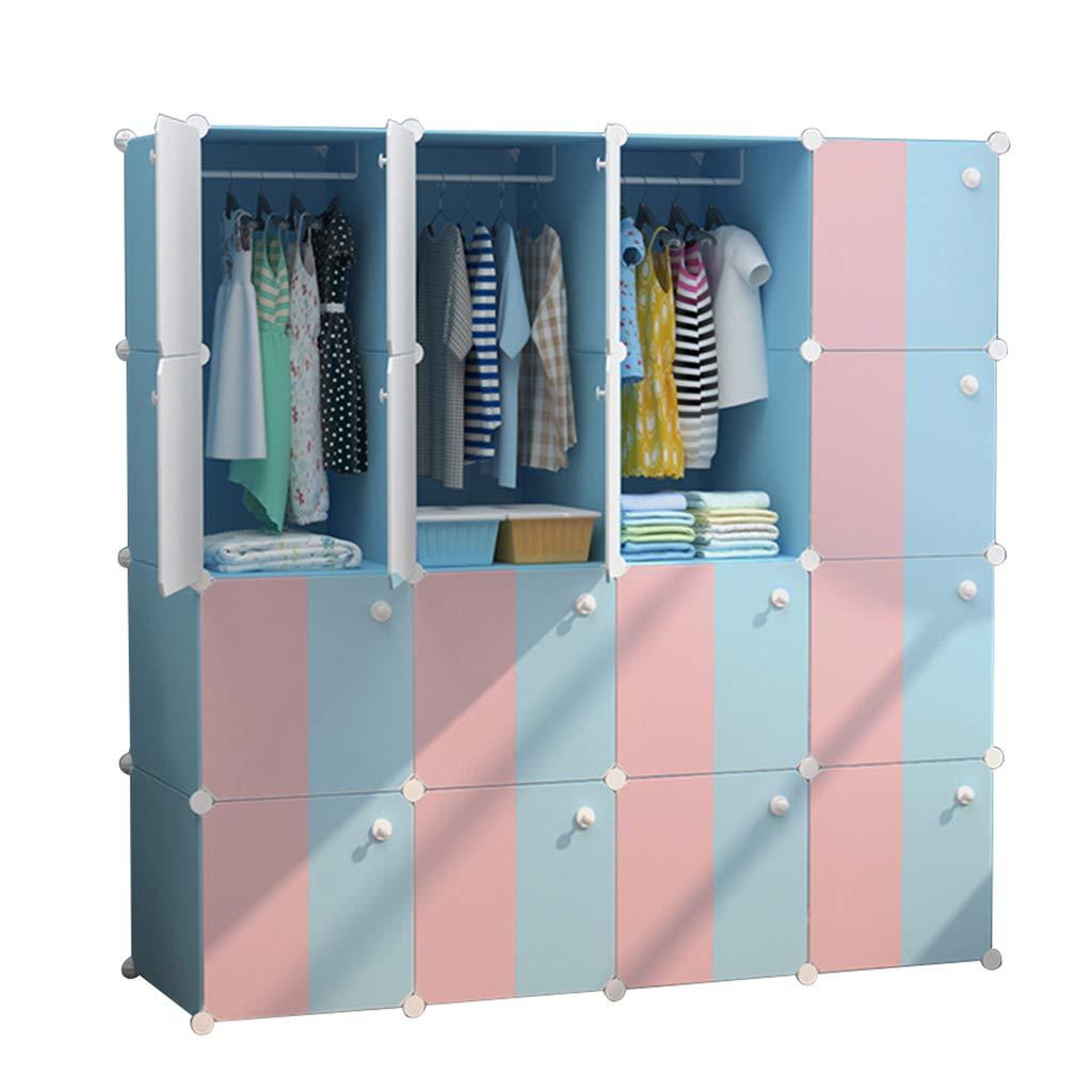 Sciever- Simple Combination Locker, Modern Minimalist Cubes Combination Wardrobe - Multi-Function Foldable Storage Cabinet - Dormitory Bedroom Storage Rack Combination Wardrobe by Sciever Combination wardrobe