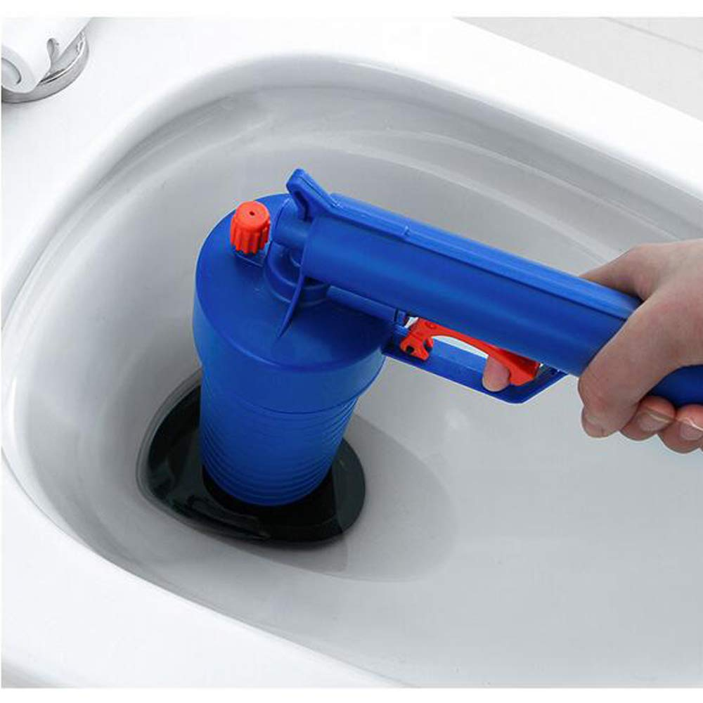 Sink Bathtubs Bathroom Toilet Plunger with 4 Suckers Floor Drain High Pressure Air Drain Buster Pipes Blaster Sewer Drain Unblocker Toilet Clogged Dredger Tool for Kitchen