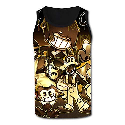 Ollip41 Men's The Dark Inkys Tank Top Sleeveless T-Shirts Casual Sports Tank Tops for Men