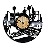 design ideas for living rooms Welcome Dzen Store Los Angeles Record Wall Clock - Get unique of living room wall decor - Gift ideas for girls and boys – Hollywood Unique Art Design