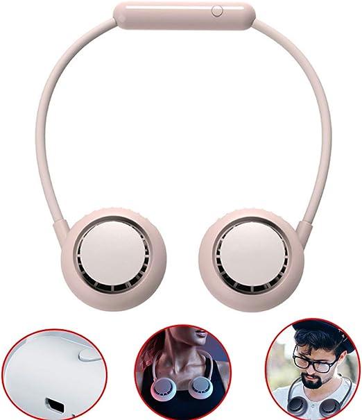 XJDMM Ventilador Portátil con Cuello Colgante USB, Ventilador ...