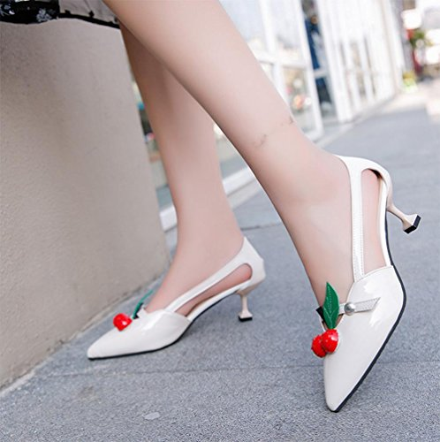 Sommermode hochhackigen Schuhe Frauen Sandalen Sommer Sandalen atmungsaktiv White