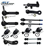 #7: DLZ 13 Pcs Front Suspension Kit-4 Ball Joint 4 Tie Rod End 2 Sway Bar 1 Pitman Arm (4 Grooves) 1 Idler Arm Bracket 1 Idler Arm for 1999-2006 Chevrolet Silverado 1500 4WD, 1999-2007 GMC Sierra 1500 4WD