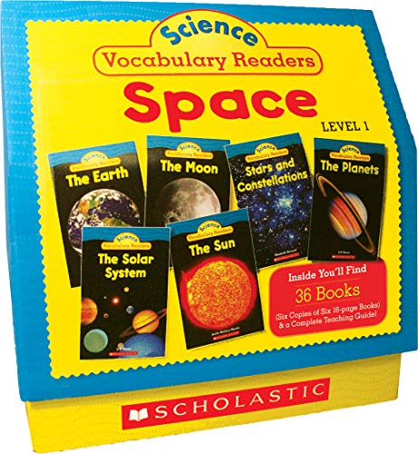 - Science Vocabulary Readers: Space: Exciting Nonfiction Books That Build Kids' Vocabularies Includes 36 Books (Six copies of six 16-page titles) Plus a ... Sun, Moon, Planets, Stars and Constellations