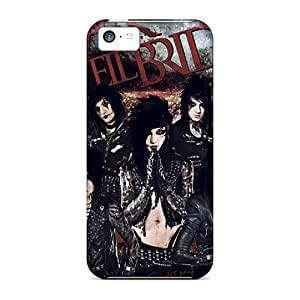 For Iphone 5c Premium Tpu Case Cover Black Veil Brides Protective Case