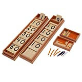 Montessori Math Teens and Tens Seguin Board with Bead Bars Wood Toys Early Childhood Education Preschool Training Baby