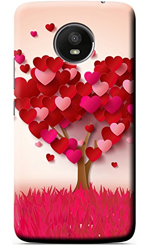 low priced a5d70 af1d3 Fashionury Designer Love Tree Printed Soft Silicon Back Case Cover for  Motorola Moto E4 Plus
