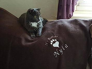 Personalizado manta de forro polar para gatos en Dark Chocolate Marrón. Para el Amor de gatos gato manta.: Amazon.es: Productos para mascotas