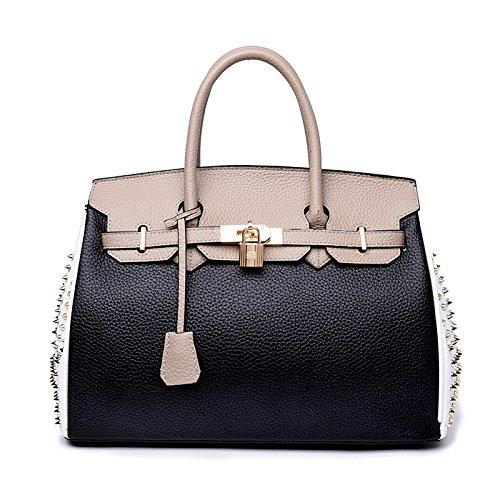 Convenable à Grande Provisions à PU KYOKIM Sac Capacité Shopping Bandoulière Blacka Sac Matériel Shopping Main Dames Sac à nPBwBYZq