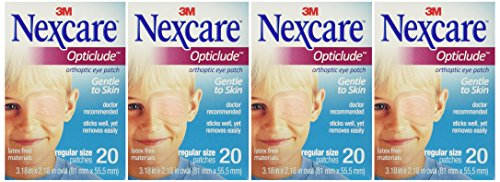 Nexcare Hypoallergenic Eye Patch (Opticlude Eye Patch Reg Nexcre 20 (pack of)