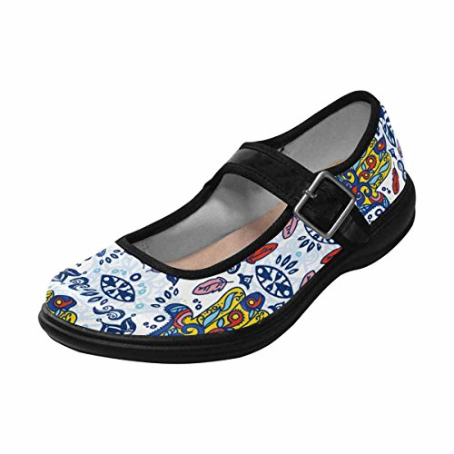InterestPrint Womens Comfort Mary Jane Flats Casual Walking Shoes Multi 5 PsvXi