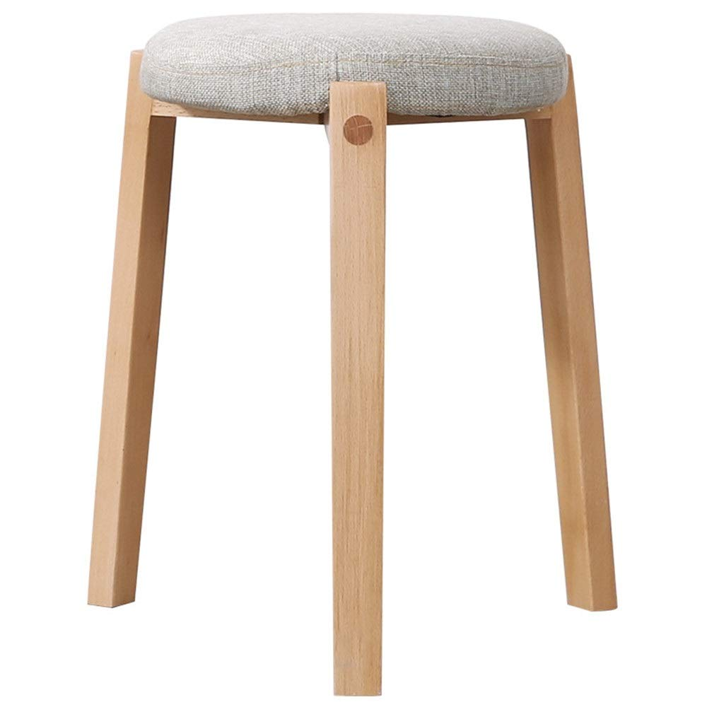 Cigkany-HO Stool Stool Solid Wood Adult Home Wooden Living Room Dressing Table Triangle Stool (Color : Log Grey, Size : 433130cm) by Cigkany-HO