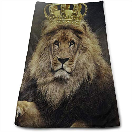 XZX2018 King Lion Microfiber Sports Travel Towel Soft Absorbent for Beach Yoga Camping Outdoor, 27.5