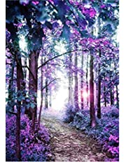 Forest Scene Diamond Painting Kits - PigPigBoss 5D Full Drill Diamond Embroidery Cross Stitch Diamond Painting by Numbers Home Decor Art Adults (11.8 x 15.7 inches)