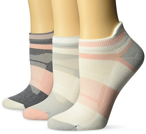 ASICS Women's Quick Lyte Cushion Single Tab (3 Pack), Frosted Rose Assorted, Medium