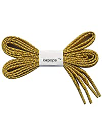 lorpops Reflective Flat Shoelaces, 1 Pair 12 Colors, 2 Length, 5/16 inches Width