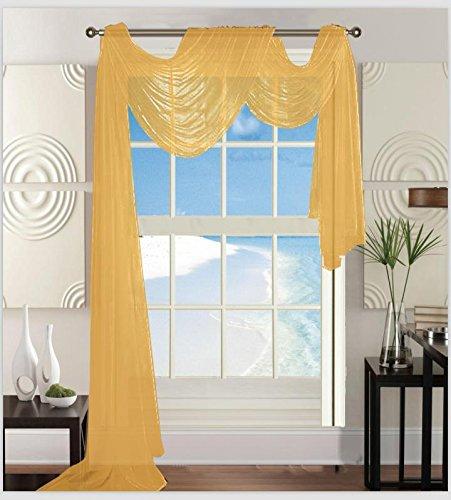 - Elegant Comfort Beautiful Window Sheer Voile Scarf 55