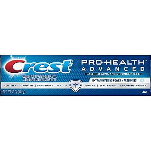 Crest Pro-Health Advanced Extra Whitening Power + Freshness Toothpaste, 5.1 ounces (Pack of 3)