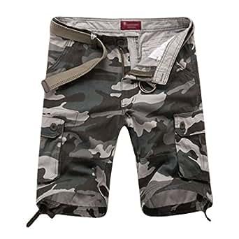 Xinwcang Cargo Shorts Bermudas Hombre Casual Pantalones Cortos de Camuflaje Outdoor Deportes Workwear Pantalón Short F1coy